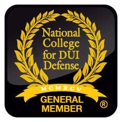 award from the national college for DUI Defense